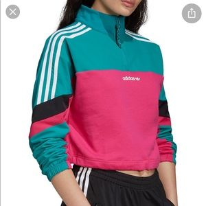 Adidas Crop Top Sweatshirt